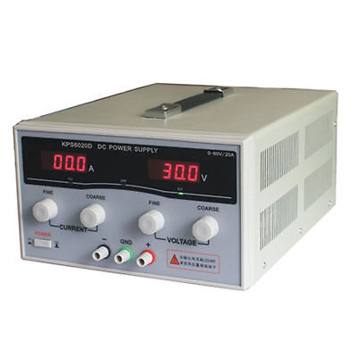 Variable Dc Switch Power Supply 60v 20a Adjustable Dual Digital Display For Lab