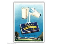 1930s School Girl Drink Milk Health Poster 20x30 Woman Flagger