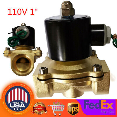 1 Electric Solenoid Valve Switch Water Air Fuel Nc Npt Electromagnetic Valve