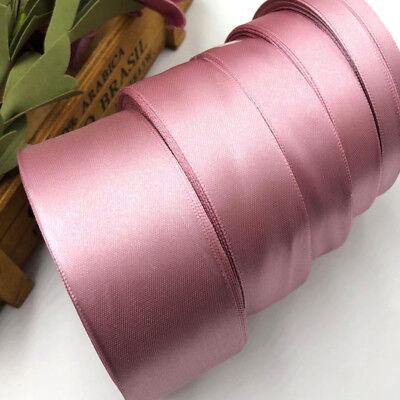 Mauve Satin Ribbon Wedding Party Decor Wrapping Xmas Apparel Sewing Craft 92