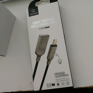 Auto disconnect charger cable for apple