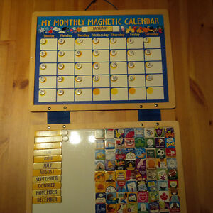 Magnetic Monthly Calendar - Wooden - Melissa and Doug
