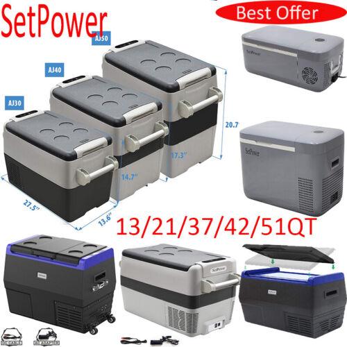 13/21/26/31/36/42/52QT Portable Car Fridge Freezer Travel Camping Cooler 12/240V