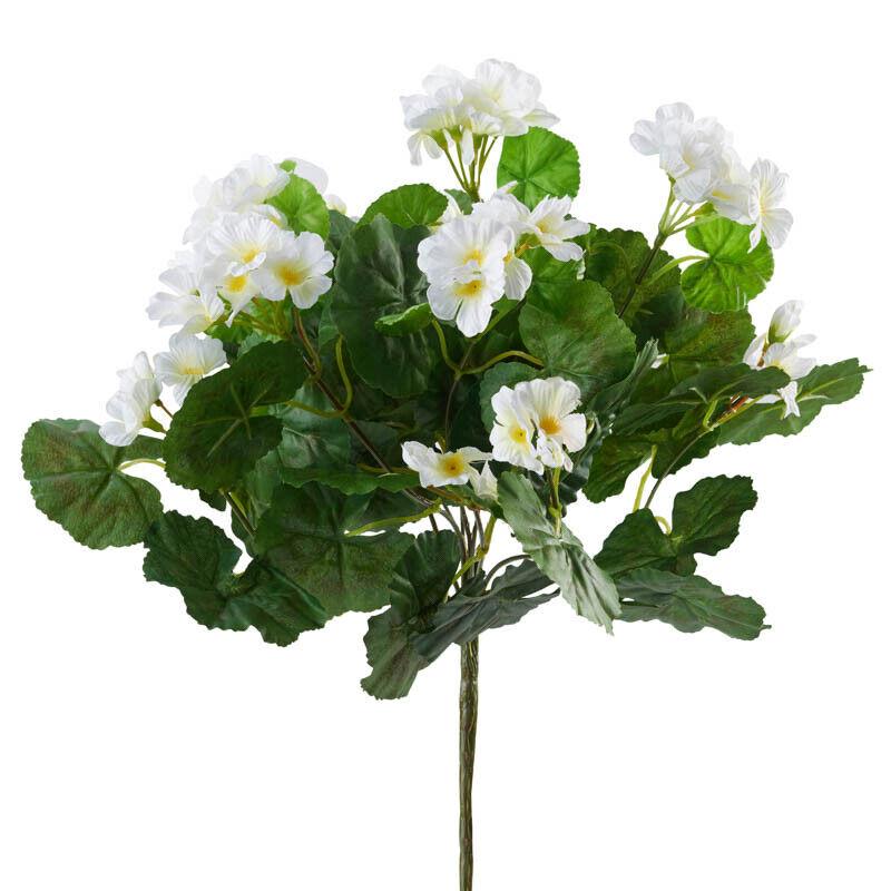 White Artificial Geranium Bush | 2 Pieces