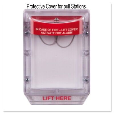 Safety Fire Alarm Pull Station Protective Lift Cover Stopper Ii W Horn Sti-1100