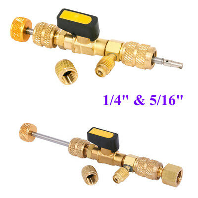 """HVAC AC Schrader Valve Core Remover Dual Size 1/4"""" and 5/16"""" Port Installer Tool"""