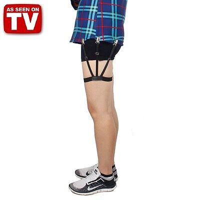 2PCS T Holders / S Holder Shirt Tucked Adjustable Side Straps Shirt Holder nv