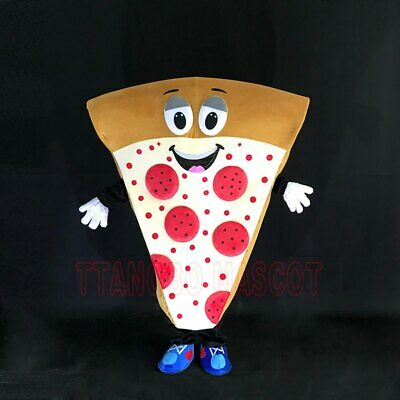 2019 Adult Pizza Mascot Costume Cosplay Funny Fancy Dress In Christmas Cool