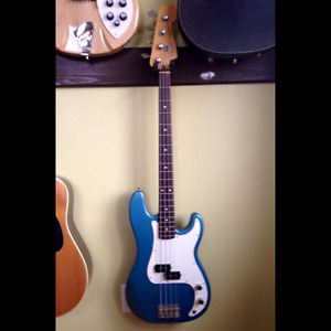 1996 Fender Standard Precision bass guitar with upgraded