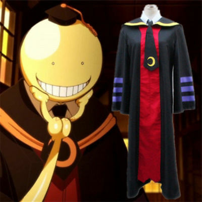 Assassination Classroom Korosensei Koro-sensei Cosplay Cloak + Tie Halloween