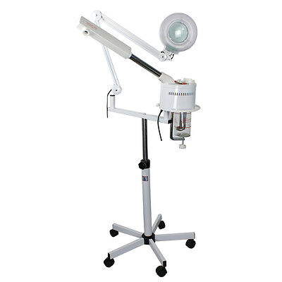 2In1 Facial Steamer   5X Magnifying Lamp Ozone Salon Spa Day Essential Esthetic