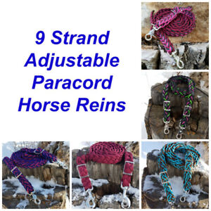 Handmade Paracord Horse Reins/Split Reins/Neck Ropes