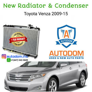 New Radiator and Condenser Toyota Venza 2009-15