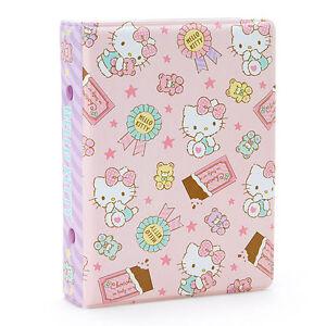 Hello Kitty pocket file holder 6 hole ring binder Sanrio Kawaii Cute F/S NEW