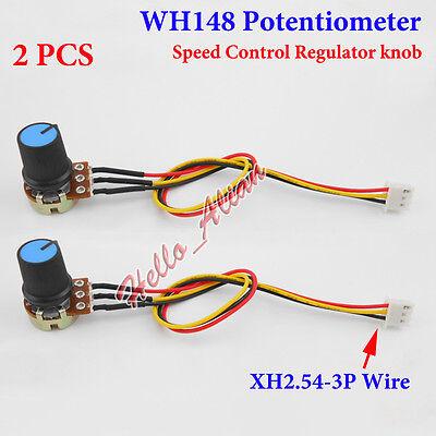 2pcs 10k B10k Ohm Linear Taper Rotary Potentiometer Pot Wh148 3p Pot Switch Knob