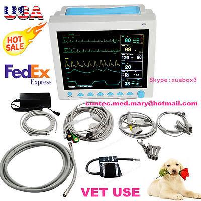 Us Stock Cms8000-vet Patient Monitor Veterinary Ecgnibpresptempspo2pr Fda