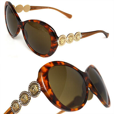 $430 GIANNI VERSACE Ladies CRYSTAL / GOLD MEDUSA SUNGLASSES