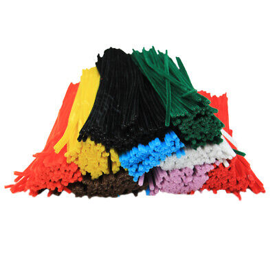 """Chenille 12"""" Stems, Assorted Colors, Pack of 1000"""