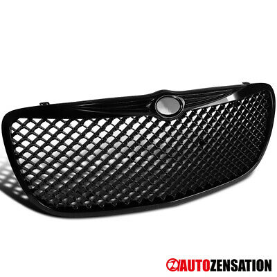 04-06 Chrysler Sebring Front Replacement Black Mesh Hood Grille Guard 1 Piece