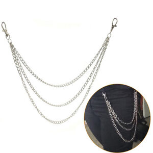 3Std Trousers Men Lady Chain Jeans Wallet Keychain Punk Rock HipHop Waist BeltXB