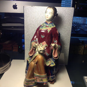 Old Beautiful Figure Chinese Signed