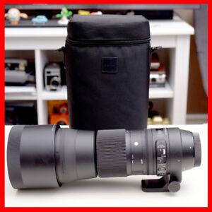 Sigma 150-600mm pour Canon, garantie à 2022