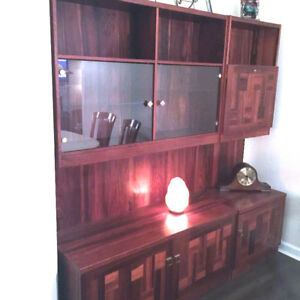 Rosewood and Cherry Wall Hutch.