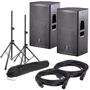PAIRE SPEAKERS AMPLIFIEES  DAS ACTION 12A STAND FILS