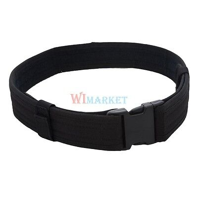 New 2 Police Security Tactical Combat Gear Utility Nylon Duty Belt Swat Black