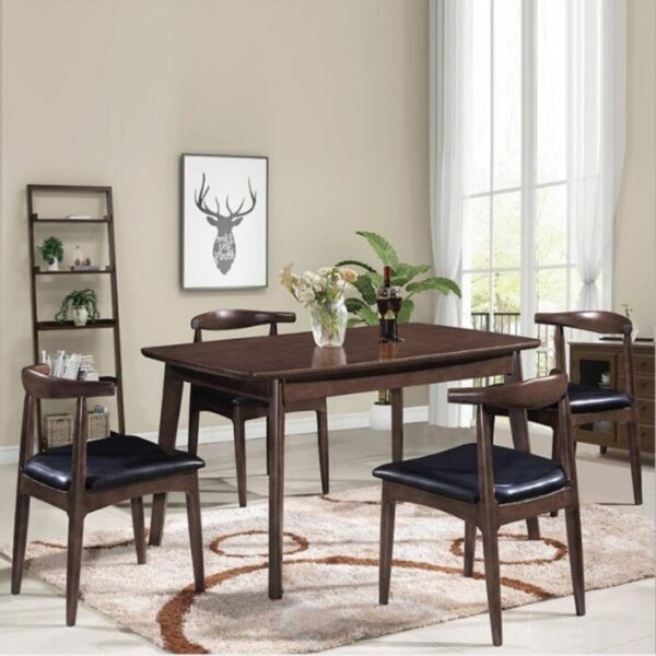 TSDT010 CSC009 Solid Wood Dining Table, Solid Wood Chair