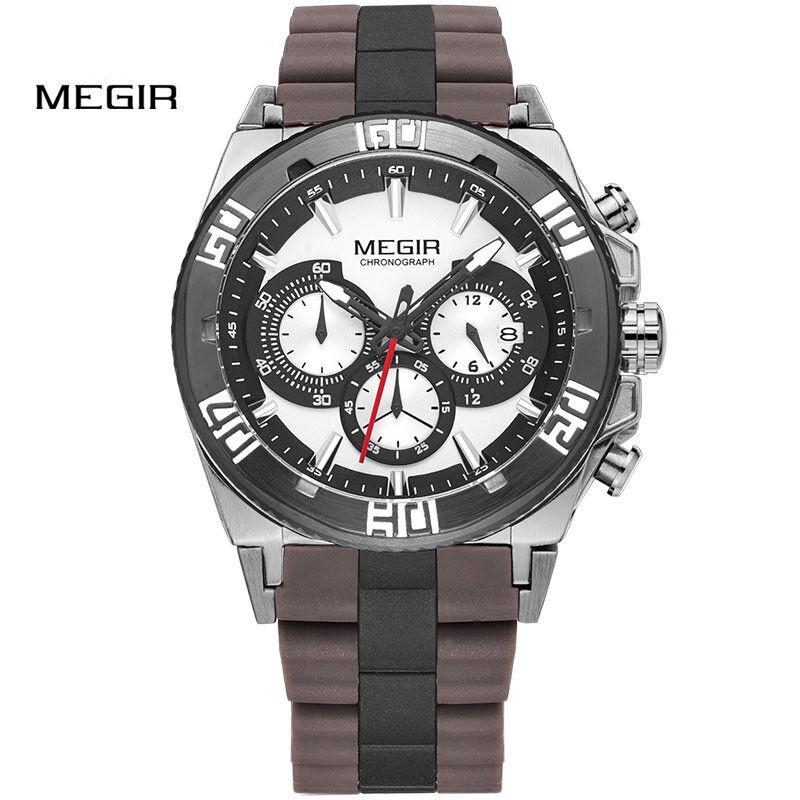MEGIR Men's Watch Top Luxury Brands Chronograph Sport