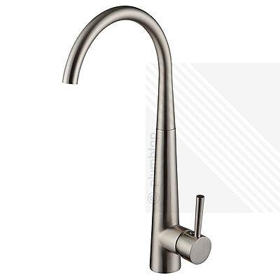 Arian Honey Kitchen Sink Mixer Tap Single Handle Swivel Spout Brushed Nickel