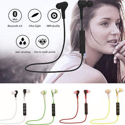 Waterproof Sports Headphones Bluetooth Wireless In-Ear Stereo Headset Earphones