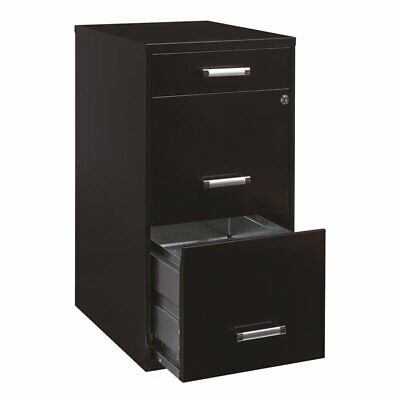 Hirsh 18 Deep 3 Drawer Organizer Cabinet In Black