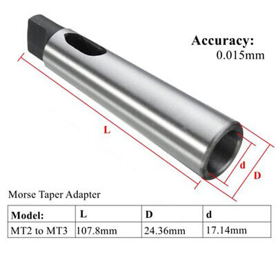 Best Mt2 To Mt3 Morse Taper Reducing Adapter Drill Sleeve For Lathe Milling-tool