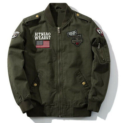 Military Men's Jackets Bomber Casual Air Force Coats Army Cotton Pilot Jackets ()