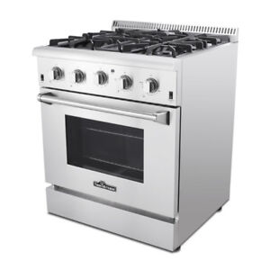 NEW THOR NATURAL GAS PROPANE 30″ STAINLESS STEEL OVEN RANGE PROP