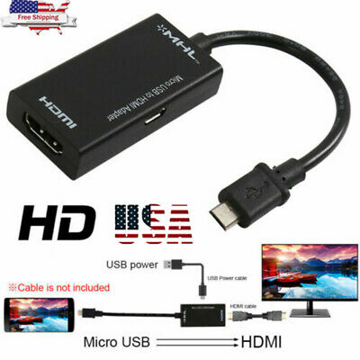 MHL Micro- USB Male to HDMI Female Adapter Cable for Android Smartphone & Tablet
