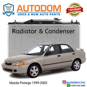 New Condenser and Radiator Mazda Protege 1999-2003
