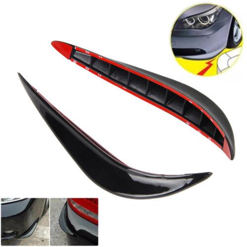 2pcs Black Universal Car Auto Vehicle Front Bumper Corner Protector Lip Guard