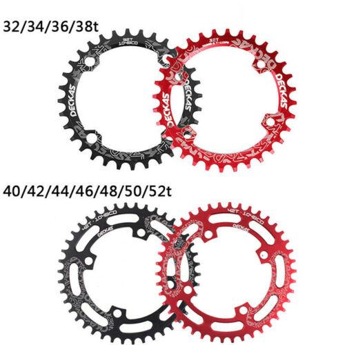 DECKAS 104BCD MTB Bike Chainring 32-38T Round//Oval Narrow Wide Single Chainwheel