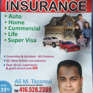 Low rate for high risk auto, home,commercial,business,supervisa