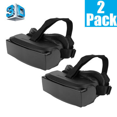 2 Pack 3D VR Box Video Virtual Reality Glasses Headset For 3.5~6 inch smartphone