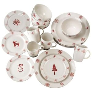 Birchwood Holiday 16-Pc. Dinnerware Set, New