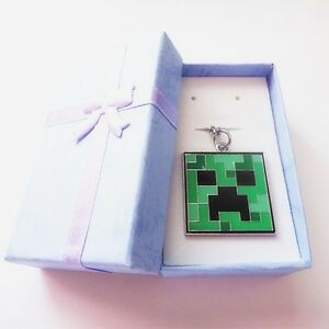 Minecraft Pickaxe Sword Creeper Pendant Necklace with Box (U.S. Fast ...