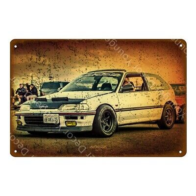 Honda Civic Dragster Metal Poster Car Garage Decoration Tin Sign 8 x 12in