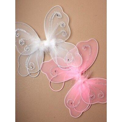 Flügel Schmetterling Engel Kostüm Schmetterlingsflügel rosa weiß BABY (Kleiner Engel Kind Kostüm)