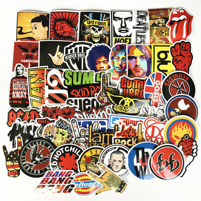 52 Stickers Lot Rock Band Punk Music Heavy Metal Bands Laptop Car Bumper Sticker