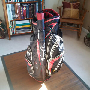 TAYLORMADE CART BAG AND CALLAWAY UMBRELLA - $60