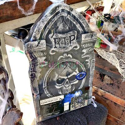 "HALLOWEEN CEMETERY KIT 25 PC decoration skulls styrofoam 22"" tombstone reaper"